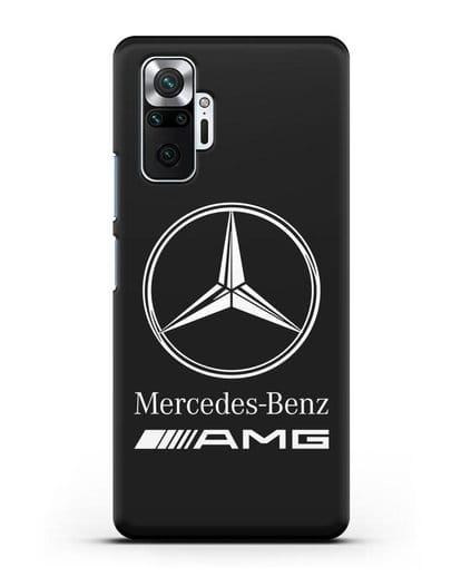 Чехол с логотипом Mercedes Benz AMG силикон черный для Xiaomi Redmi Note 10 Pro