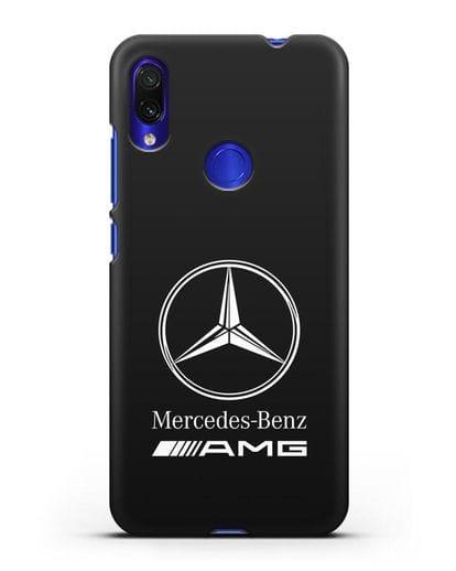 Чехол с логотипом Mercedes Benz AMG силикон черный для Xiaomi Redmi Note 7