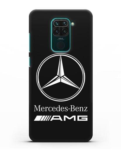 Чехол с логотипом Mercedes Benz AMG силикон черный для Xiaomi Redmi Note 9