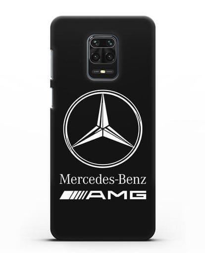 Чехол с логотипом Mercedes Benz AMG силикон черный для Xiaomi Redmi Note 9 Pro