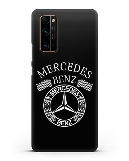 Чехол с надписью и логотипом Мерседес Бенц силикон черный для Honor 30 Pro Plus