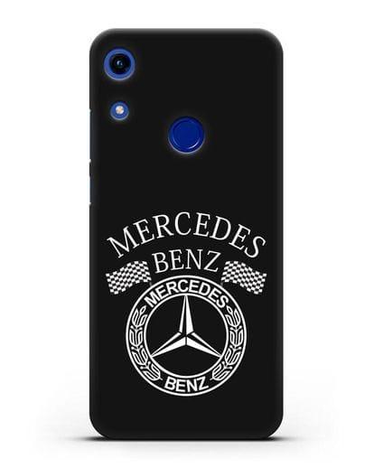 Чехол с надписью и логотипом Мерседес Бенц силикон черный для Honor 8A