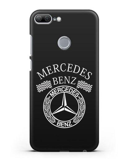 Чехол с надписью и логотипом Мерседес Бенц силикон черный для Honor 9 Lite