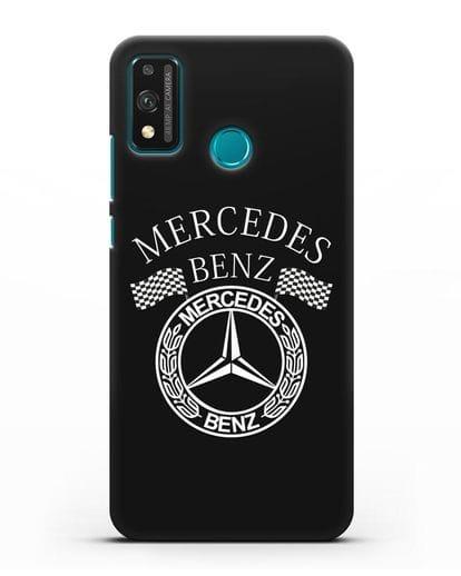 Чехол с надписью и логотипом Мерседес Бенц силикон черный для Honor 9X lite