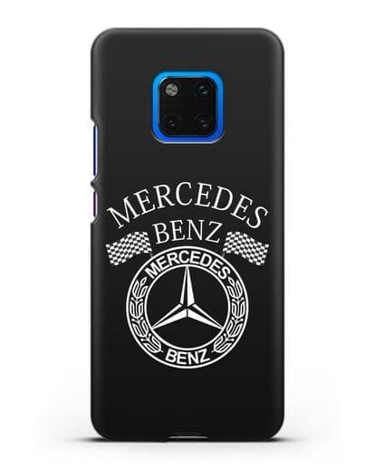Чехол с надписью и логотипом Мерседес Бенц силикон черный для Huawei Mate 20 Pro