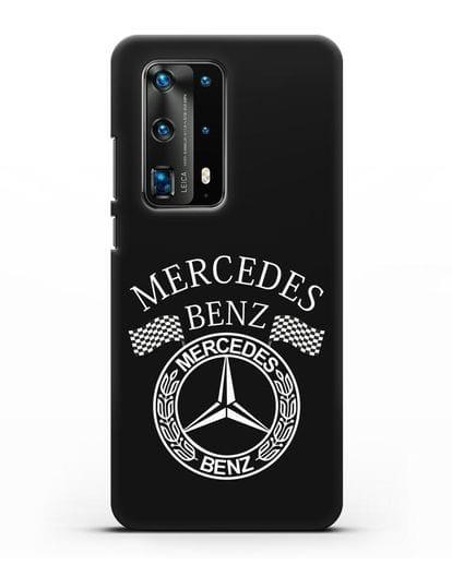 Чехол с надписью и логотипом Мерседес Бенц силикон черный для Huawei P40 Pro