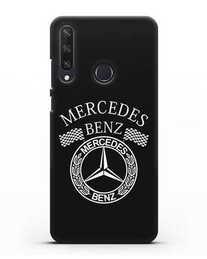 Чехол с надписью и логотипом Мерседес Бенц силикон черный для Huawei Y6P