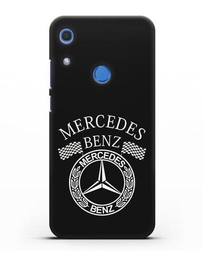 Чехол с надписью и логотипом Мерседес Бенц силикон черный для Huawei Y6s