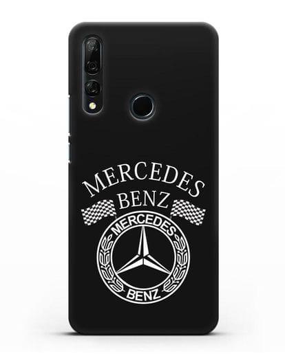 Чехол с надписью и логотипом Мерседес Бенц силикон черный для Huawei Y9 Prime 2019