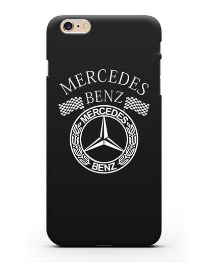 Чехол с надписью и логотипом Мерседес Бенц силикон черный для iPhone 6s Plus