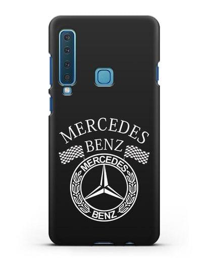 Чехол с надписью и логотипом Мерседес Бенц силикон черный для Samsung Galaxy A9 (2018) [SM-A920]