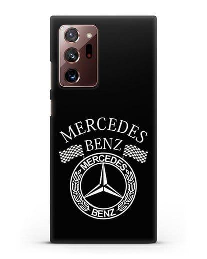 Чехол с надписью и логотипом Мерседес Бенц силикон черный для Samsung Galaxy Note 20 Ultra [SM-N985F]