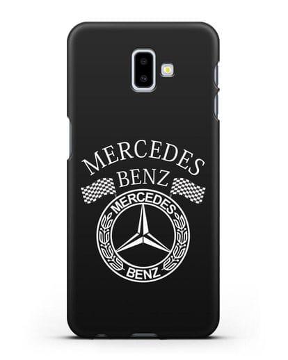 Чехол с надписью и логотипом Мерседес Бенц силикон черный для Samsung Galaxy J6 Plus [SM-J610F]
