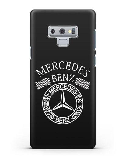 Чехол с надписью и логотипом Мерседес Бенц силикон черный для Samsung Galaxy Note 9 [N960F]