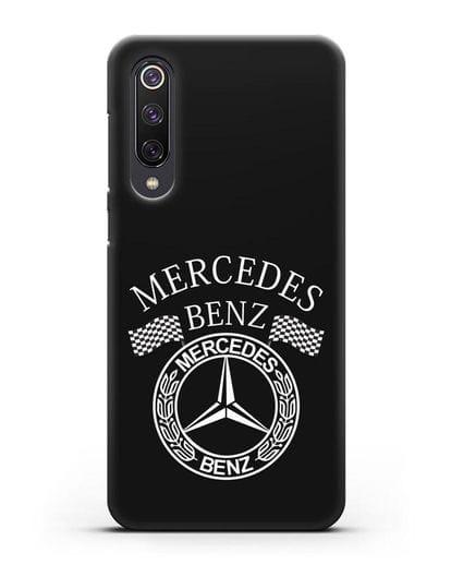 Чехол с надписью и логотипом Мерседес Бенц силикон черный для Xiaomi Mi 9 SE