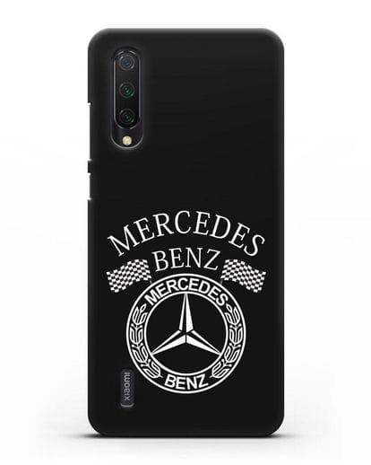 Чехол с надписью и логотипом Мерседес Бенц силикон черный для Xiaomi Mi A3 Lite