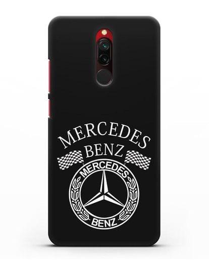 Чехол с надписью и логотипом Мерседес Бенц силикон черный для Xiaomi Redmi 8
