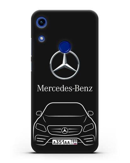 Чехол Mercedes Benz E-класс с автомобильным номером силикон черный для Honor 8A