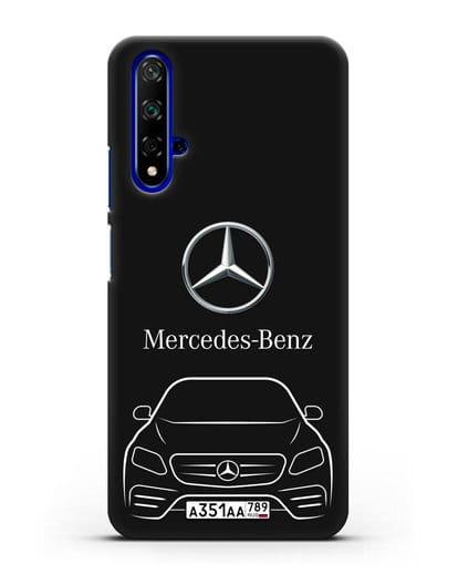 Чехол Mercedes Benz E-класс с автомобильным номером силикон черный для Huawei Nova 5T