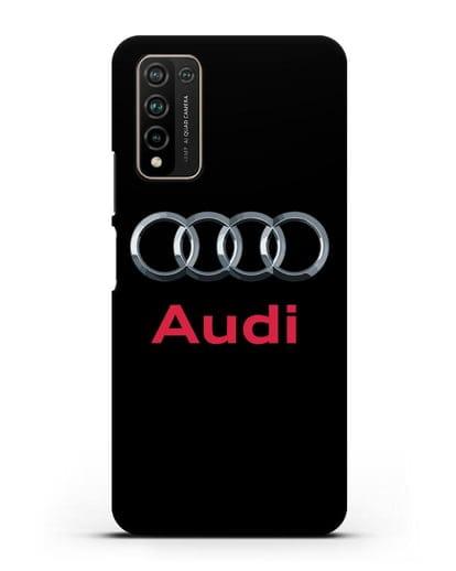Чехол с логотипом Audi силикон черный для Honor 10X Lite