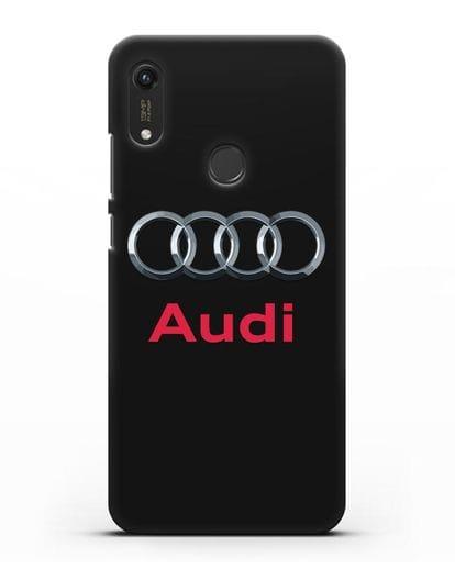 Чехол с логотипом Audi силикон черный для Honor 8A Prime