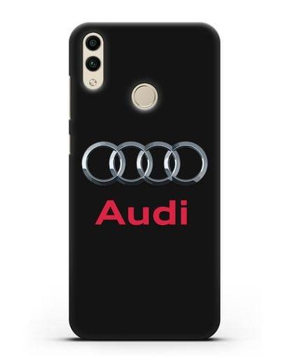 Чехол с логотипом Audi силикон черный для Honor 8C