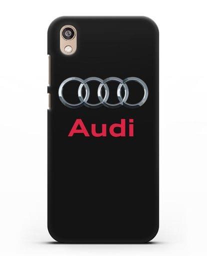 Чехол с логотипом Audi силикон черный для Honor 8S Prime