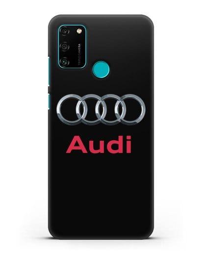 Чехол с логотипом Audi силикон черный для Honor 9A