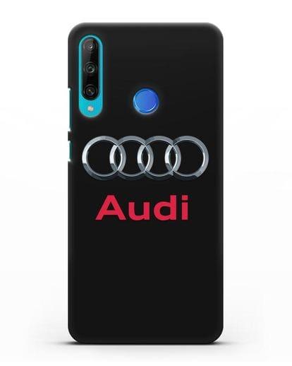 Чехол с логотипом Audi силикон черный для Honor 9C