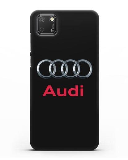 Чехол с логотипом Audi силикон черный для Honor 9S