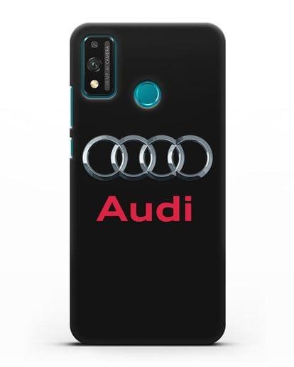 Чехол с логотипом Audi силикон черный для Honor 9X lite