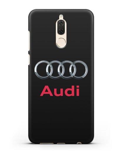 Чехол с логотипом Audi силикон черный для Huawei Mate 10 Lite