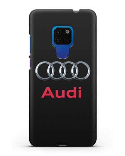 Чехол с логотипом Audi силикон черный для Huawei Mate 20