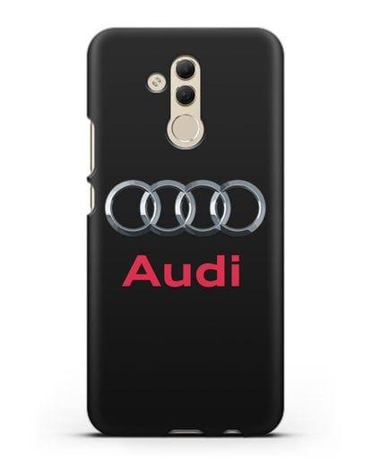 Чехол с логотипом Audi силикон черный для Huawei Mate 20 Lite