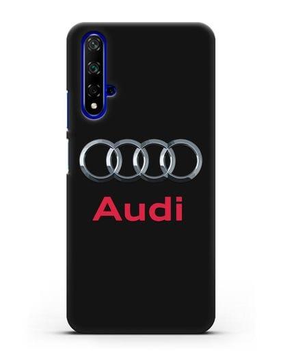 Чехол с логотипом Audi силикон черный для Huawei Nova 5T