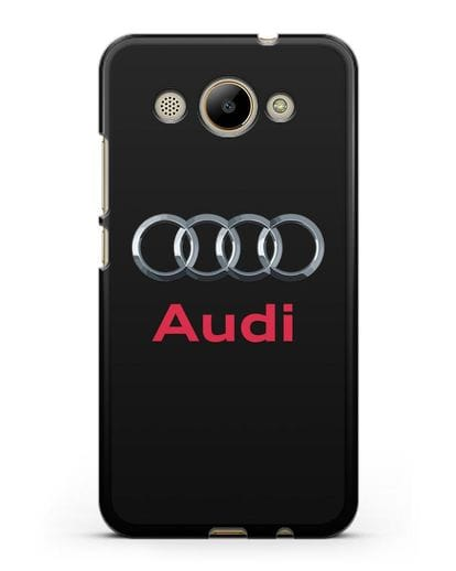 Чехол с логотипом Audi силикон черный для Huawei Y3 2017