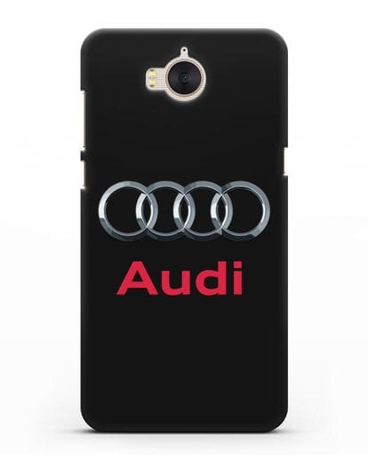 Чехол с логотипом Audi силикон черный для Huawei Y5 2017