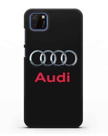 Чехол с логотипом Audi силикон черный для Huawei Y5P