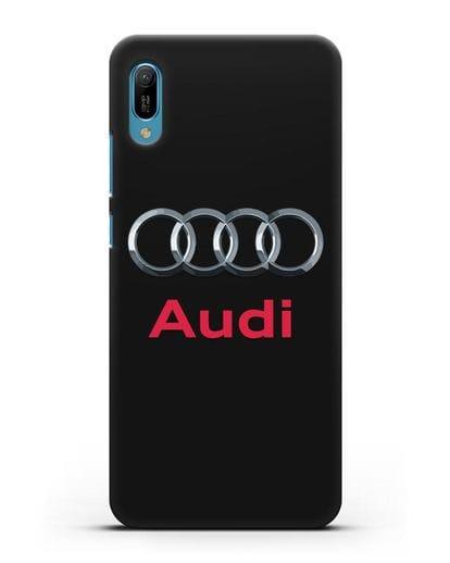 Чехол с логотипом Audi силикон черный для Huawei Y6 2019