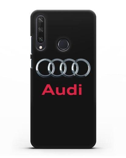 Чехол с логотипом Audi силикон черный для Huawei Y6P