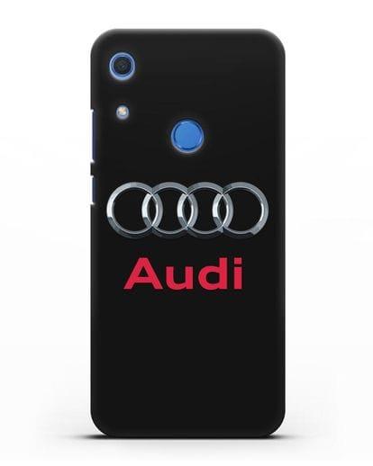 Чехол с логотипом Audi силикон черный для Huawei Y6s
