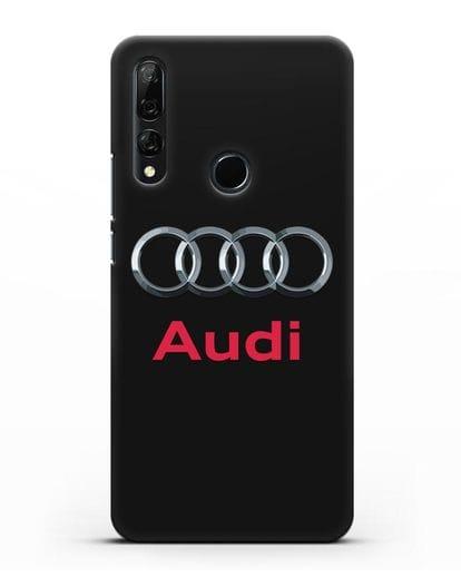 Чехол с логотипом Audi силикон черный для Huawei Y9 Prime 2019