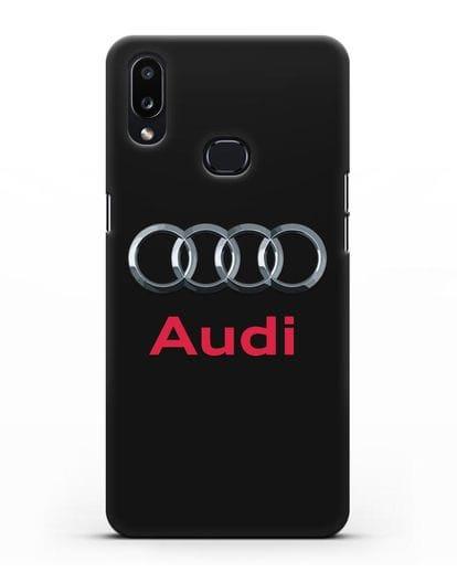 Чехол с логотипом Audi силикон черный для Samsung Galaxy A10s [SM-F107F]