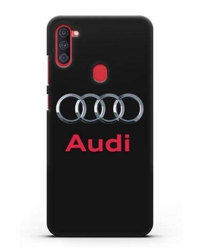 Чехол с логотипом Audi силикон черный для Samsung Galaxy A11 [SM-A115F]
