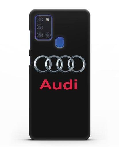 Чехол с логотипом Audi силикон черный для Samsung Galaxy A21s [SM-A217F]