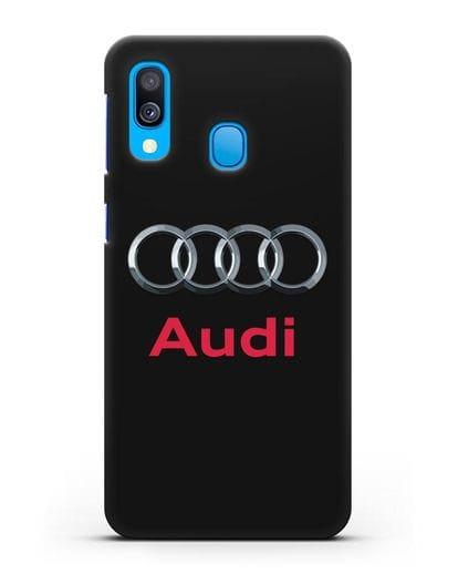 Чехол с логотипом Audi силикон черный для Samsung Galaxy A40 [SM-A405F]