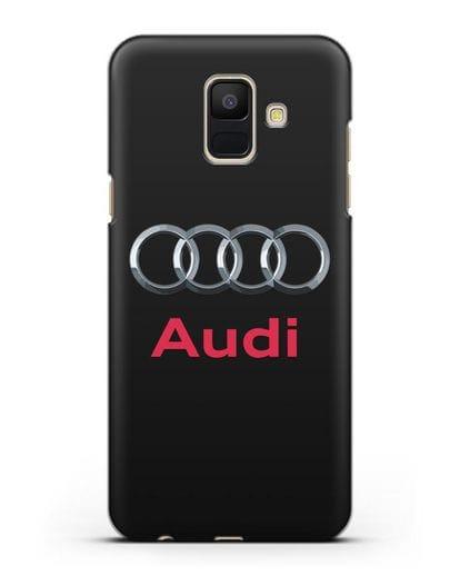 Чехол с логотипом Audi силикон черный для Samsung Galaxy A6 2018 [SM-A600F]