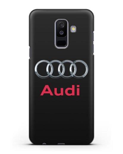 Чехол с логотипом Audi силикон черный для Samsung Galaxy A6 Plus 2018 [SM-A605F]