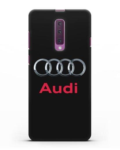 Чехол с логотипом Audi силикон черный для Samsung Galaxy A90 [SM-A908N]
