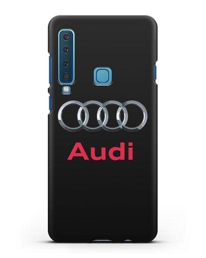 Чехол с логотипом Audi силикон черный для Samsung Galaxy A9 (2018) [SM-A920]